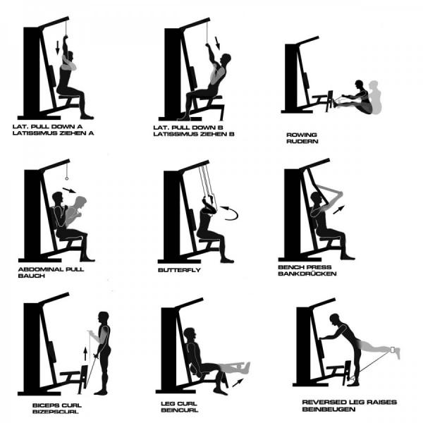 Exercice appareil musculation - Muscu maison