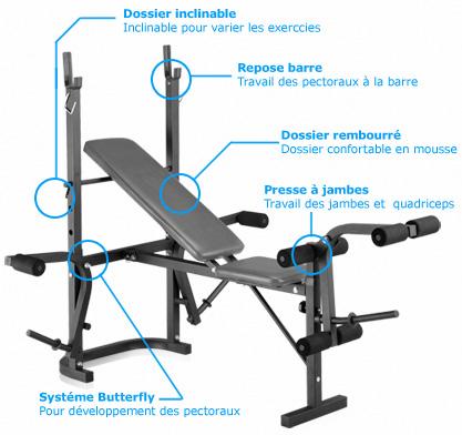 Banc de musculation jambes muscu maison - Exercice de musculation avec banc ...