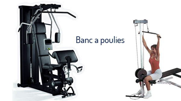 banc musculation avec poulie muscu maison. Black Bedroom Furniture Sets. Home Design Ideas